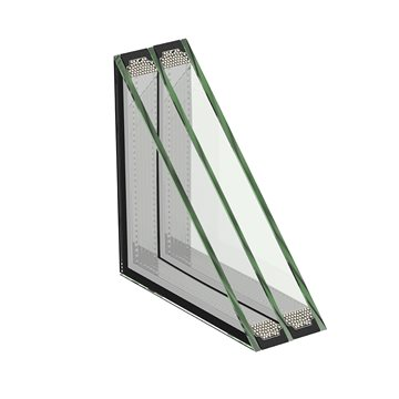 3-glas isoler med 4 mm glas (4+4+4)